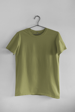 Load image into Gallery viewer, BASIC OLIVE GREEN HALF-SLEEVE T-SHIRTS