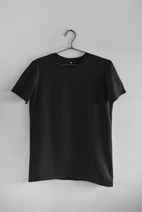 BASIC BLACK HALF-SLEEVE T-SHIRTS