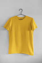Load image into Gallery viewer, BASIC YELLOW HALF-SLEEVE T-SHIRTS