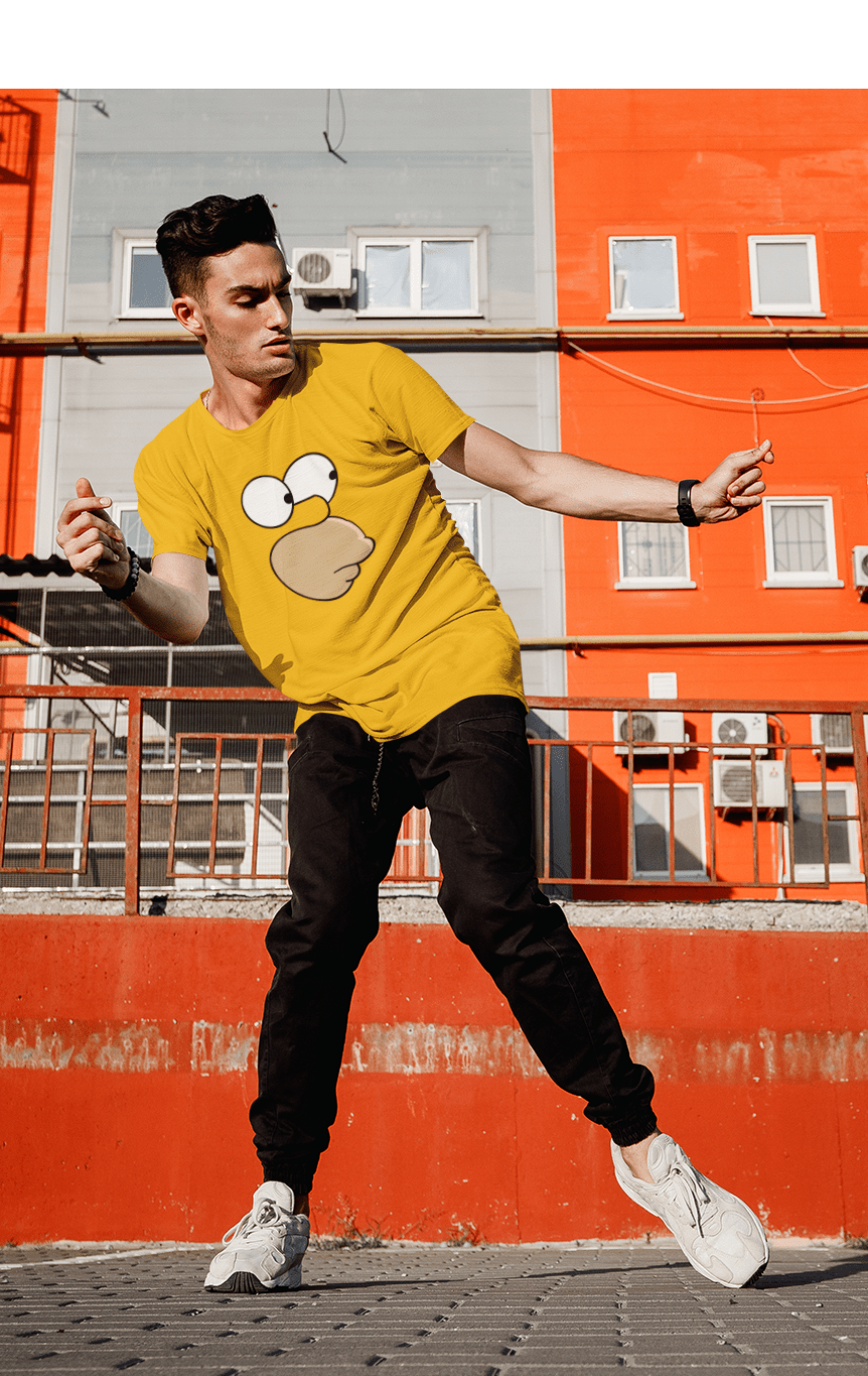 Bart Simpson Face - HALF-SLEEVE T-SHIRTS - ANTHERR