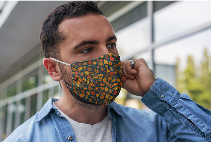 Tribal Doodle : Printed Tetra Shield Protection Mask ( PACK OF 3 )