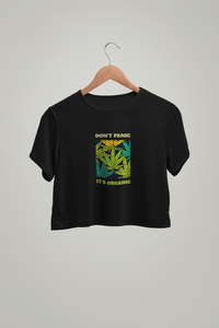 """ DON'T PANIC, ITS ORGANIC "" HALF SLEEVE CROP TOP'S - ANTHERR"
