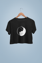 "Load image into Gallery viewer, "" TWO SOULS "" - HALF-SLEEVE CROP TOPS - ANTHERR"