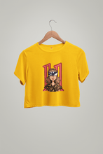 "Load image into Gallery viewer, ""STRANGER THINGS"" - ELEVEN : HALF-SLEEVE CROP TOPS - ANTHERR"