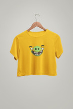 "Load image into Gallery viewer, "" PIGGY "" - ANGRY BIRDS - HALF-SLEEVE CROP TOPS - ANTHERR"