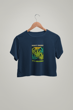 "Load image into Gallery viewer, "" DON'T PANIC, ITS ORGANIC "" HALF SLEEVE CROP TOP'S - ANTHERR"