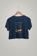 "Load image into Gallery viewer, "" FRIENDS "" - HALF-SLEEVE CROP TOPS - ANTHERR"