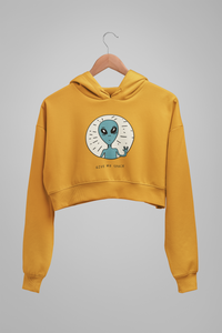 Give Me Space : Alien & Space - Winter Crop Hoodies