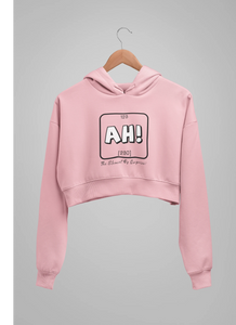 AH : Baby Pink - Winter Crop Hoodies