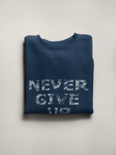 Load image into Gallery viewer, NEVER GIVE UP HALF SLEEVE T-SHIRT - ANTHERR