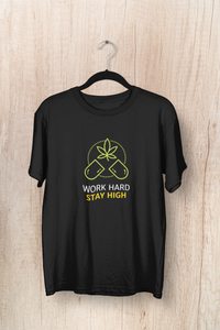 """ WORK HARD, STAY HIGH "" - HALF-SLEEVE T-SHIRT. - ANTHERR"