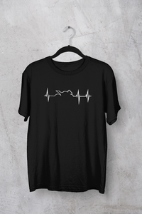 """ HEARTBEAT STRIKES ON BIKING "" HALF-SLEEVE T-SHIRTS - ANTHERR"