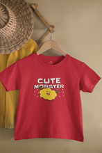 "Load image into Gallery viewer, ""CUTE MONSTER"" KIDS HALF-SLEEVE T-SHIRT - ANTHERR"