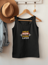 "Load image into Gallery viewer, ""SWEAT NOW SHINE LATER"": SLEEVELESS T-SHIRTS - ANTHERR"