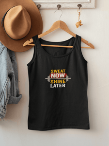 """SWEAT NOW SHINE LATER"": SLEEVELESS T-SHIRTS - ANTHERR"