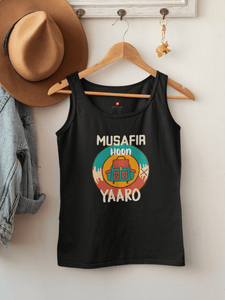 """MUSAFIR HOON YAARO""- SLEEVELESS T-SHIRTS - ANTHERR"