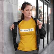 Load image into Gallery viewer, INTROVERT UNISEX HALF-SLEEVE T-SHIRT.