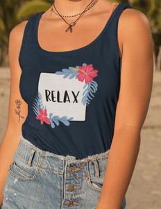 """RELAX"" : Tank Tops - ANTHERR"