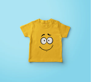 """SMILE"" KIDS HALF-SLEEVE T-SHIRT (YELLOW) - antherr"