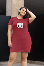 "Load image into Gallery viewer, "" CUTE PANDA "" - 3/4TH SLEEVE T-SHIRT DRESSES - ANTHERR"
