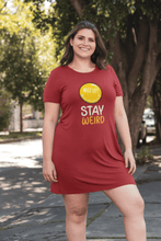"Load image into Gallery viewer, "" STAY WEIRD "" - 3/4TH SLEEVE T-SHIRT DRESSES - ANTHERR"