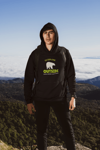 """ GO EXPLORE OUTSIDE "" - WINTER HOODIES - ANTHERR"
