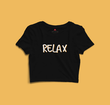 "Load image into Gallery viewer, "" RELAX "" - HALF SLEEVE CROP TOPS"