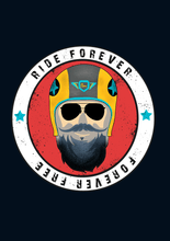 "Load image into Gallery viewer, "" RIDE FOREVER  "" HALF-SLEEVE T-SHIRT'S - ANTHERR"