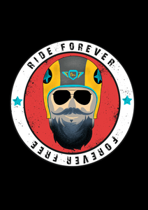 """ RIDE FOREVER  "" HALF-SLEEVE T-SHIRT'S - ANTHERR"