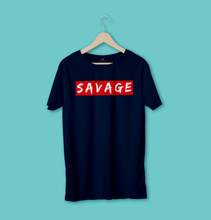 "Load image into Gallery viewer, ""SAVAGE"" -  HALF-SLEEVE T-SHIRT'S - ANTHERR"