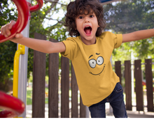 "Load image into Gallery viewer, ""SMILE"" KIDS HALF-SLEEVE T-SHIRT"