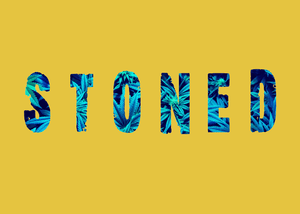 STONED HALF-SLEEVE T-SHIRT (YELLOW) - antherr