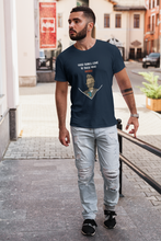 "Load image into Gallery viewer, ""GOOD THINGS""- HALF-SLEEVE T-SHIRT (NAVY BLUE)"
