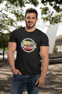 """NO PAIN, NO GAIN"" - HALF-SLEEVE T-SHIRT'S - ANTHERR"