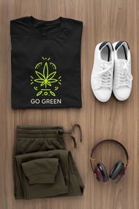 """ GO GREEN "" - HALF-SLEEVE T-SHIRT. - ANTHERR"