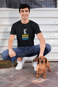 """DOGS BEFORE DUDES "" - HALF-SLEEVE T-SHIRTS - ANTHERR"