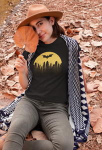""" BATMAN BEGINS "" HALF-SLEEVE T-SHIRTS"