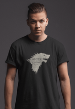 "Load image into Gallery viewer, WINTER IS COMING -GAME OF THRONES"" - HALF SLEEVE T-SHIRTS - ANTHERR"