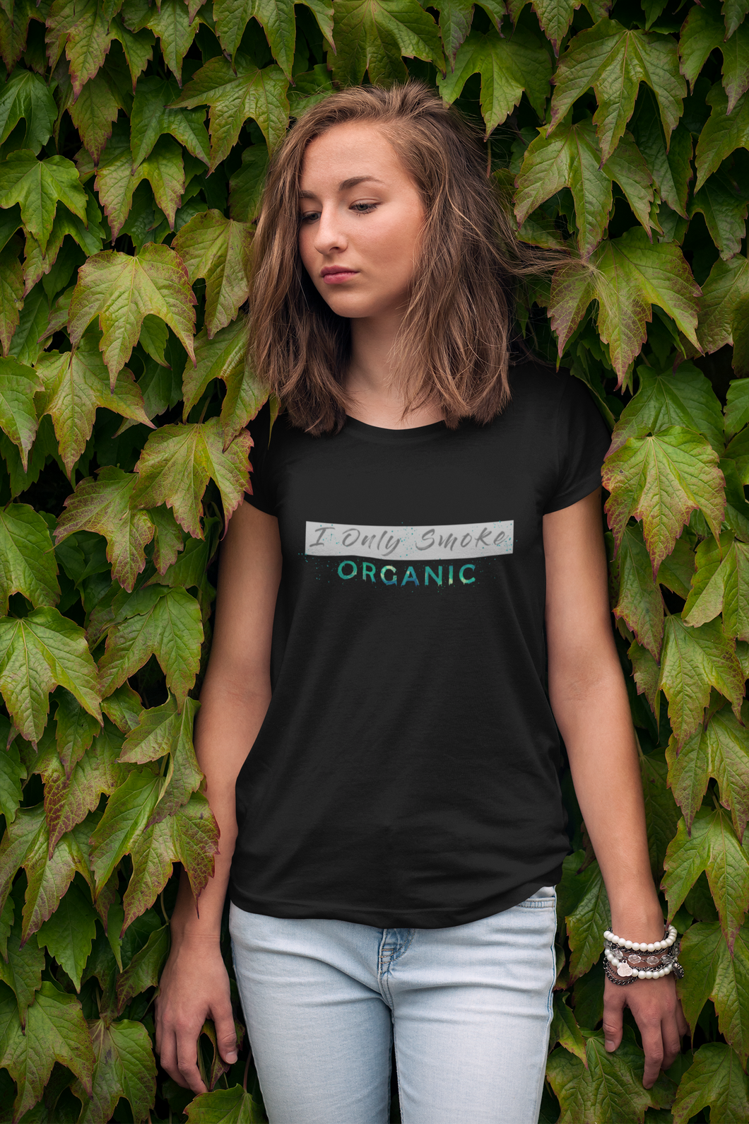 I ONLY SMOKE ORGANIC HALF SLEEVE T-SHIRT. - ANTHERR