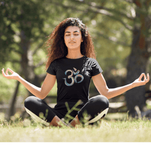 Load image into Gallery viewer, OM SYMBOL (ॐ) - HALF-SLEEVE T-SHIRTS - ANTHERR