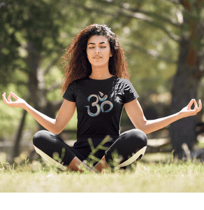 OM SYMBOL (ॐ) - HALF-SLEEVE T-SHIRTS - ANTHERR