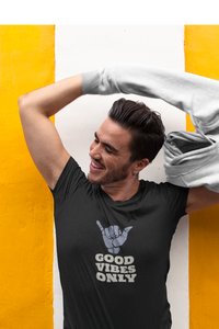 GOOD VIBES ONLY HALF-SLEEVE T-SHIRT