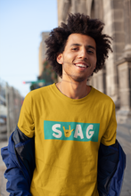 "Load image into Gallery viewer, ""SWAG""- HALF-SLEEVE T-SHIRT'S"