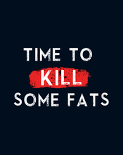 Load image into Gallery viewer, TIME TO KILL SOME FAT HALF-SLEEVE T-SHIRT (NAVY BLUE) - antherr