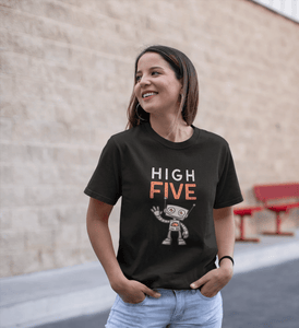 """ HIGH FIVE "" - HALF-SLEEVE T-SHIRT. - ANTHERR"