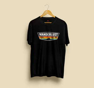 WANDERLUST HALF-SLEEVE T-SHIRT (BLACK) - antherr