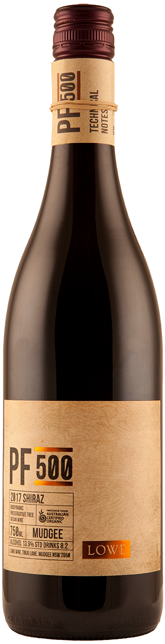 David Lowe PF500 Preservative Free Shiraz 2017