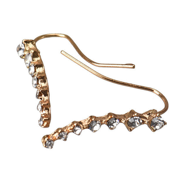 SUSENSTONE Rhinestone Crystal Seven stars Trendy Jewelry Beautifully Ear row Accessories line type Earrings for women