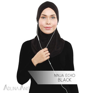 Ninja Echo - Black - Hijabs - Adlina Anis - Third Culture Boutique