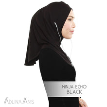 Load image into Gallery viewer, Ninja Echo - Black - Hijabs - Adlina Anis - Third Culture Boutique